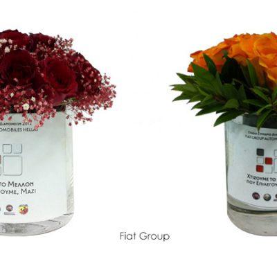 γυάλινο-βάζο-glass-vase-flowers-arangement-σύνθεση-λουλουδιών-how-to-plan-fleria-corporate-gift-εταιρικά-δώρα-fiat-group