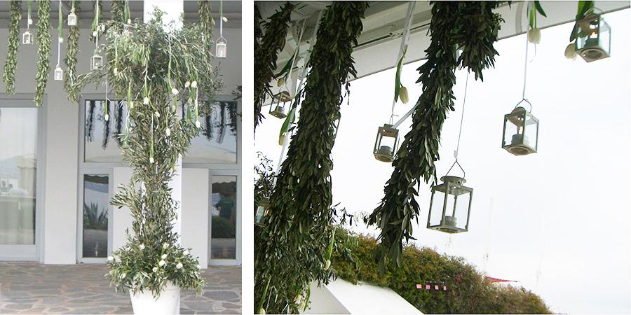 U Wedding Ceremony Decoration Olive Tree Branches