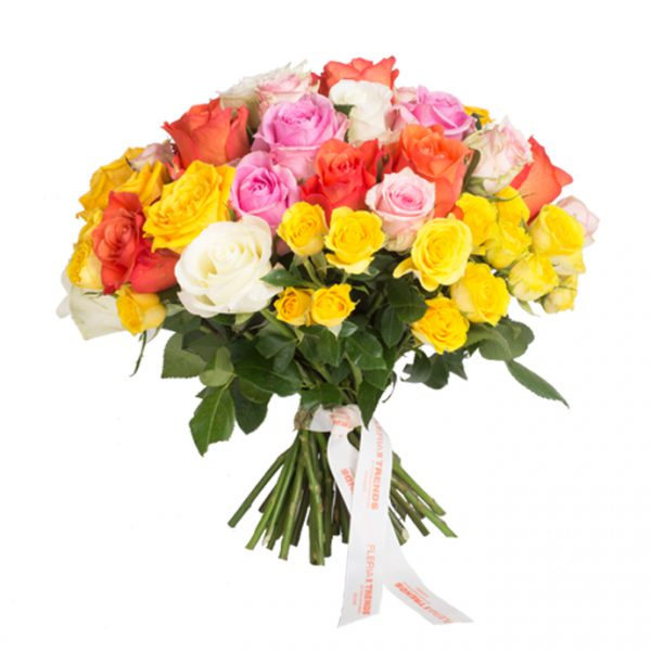 COLORFUL BOUQUET WITH ROSES