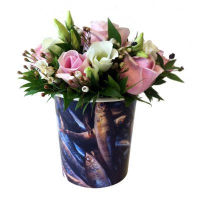 σειρά fleria market με σύνθεση απο τριαντάφυλλα και λυσίανθους - fleria market flowers arrangement with roses